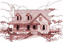 House Plan Design - Traditional Exterior - Front Elevation Plan #79-215