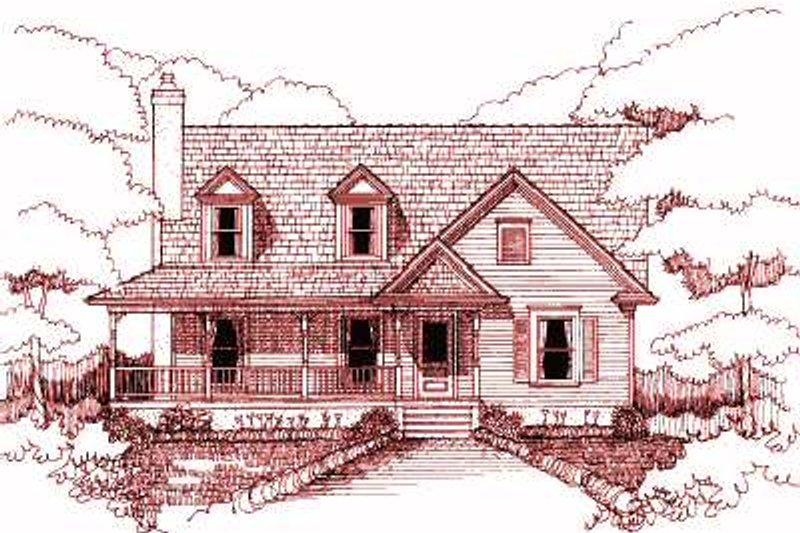 Architectural House Design - Traditional Exterior - Front Elevation Plan #79-215