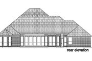 European Style House Plan - 3 Beds 3 Baths 3160 Sq/Ft Plan #84-401 Exterior - Rear Elevation