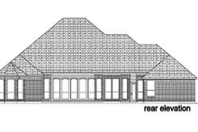European Exterior - Rear Elevation Plan #84-401