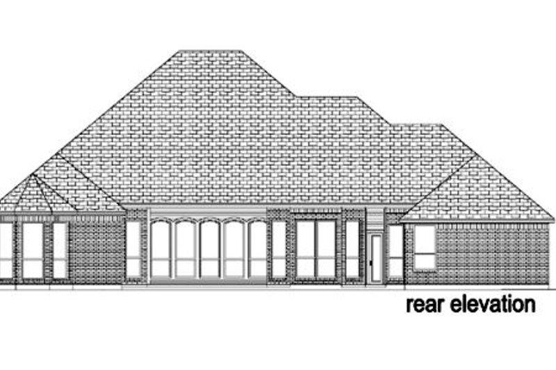 European Exterior - Rear Elevation Plan #84-401 - Houseplans.com