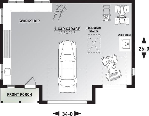 Dream House Plan - Farmhouse Floor Plan - Main Floor Plan #23-2731