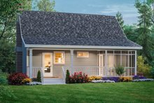 Home Plan - Cottage Exterior - Rear Elevation Plan #21-169