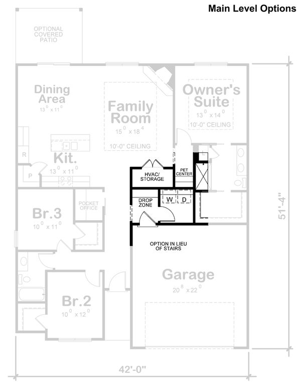 House Plan Design - Traditional Floor Plan - Other Floor Plan #20-2358