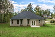 Country Style House Plan - 3 Beds 2.5 Baths 1635 Sq/Ft Plan #20-2192 Exterior - Rear Elevation