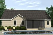 Traditional Style House Plan - 3 Beds 3.5 Baths 2734 Sq/Ft Plan #1071-15 Exterior - Rear Elevation