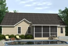 Traditional Exterior - Rear Elevation Plan #1071-15