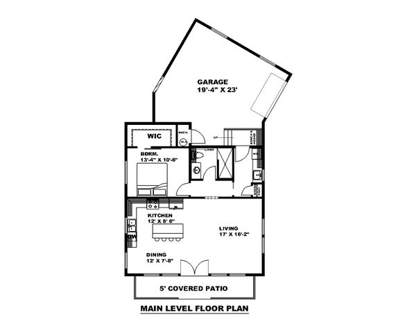 Architectural House Design - Farmhouse Floor Plan - Main Floor Plan #117-910
