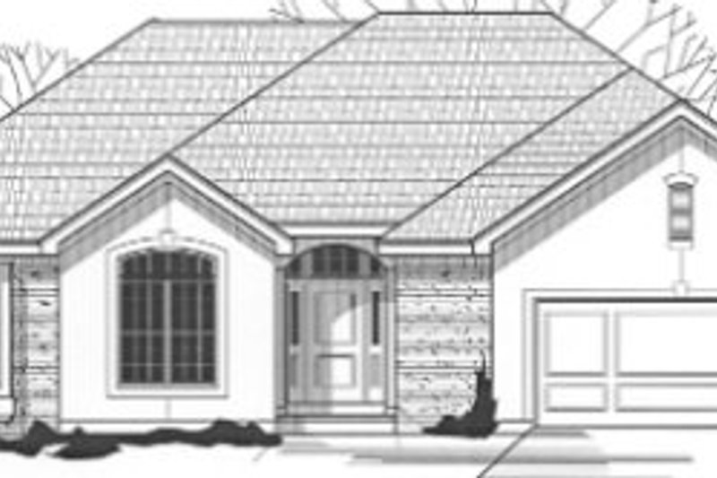Traditional Style House Plan - 3 Beds 2 Baths 1769 Sq/Ft Plan #67-796