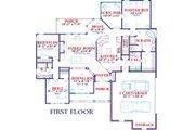 European Style House Plan - 5 Beds 3 Baths 3257 Sq/Ft Plan #63-127 Floor Plan - Main Floor Plan