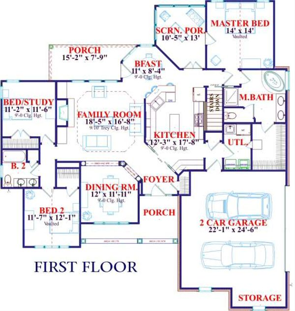 European Floor Plan - Main Floor Plan #63-127
