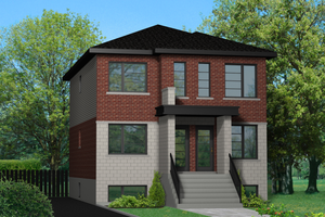 Contemporary Exterior - Front Elevation Plan #25-4553