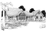 Country Style House Plan - 4 Beds 3 Baths 2252 Sq/Ft Plan #20-2041 Exterior - Rear Elevation