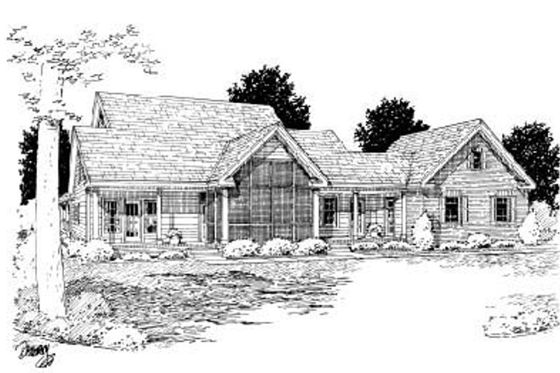 Country Exterior - Rear Elevation Plan #20-2041 - Houseplans.com