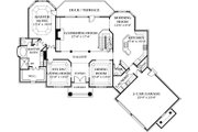 Colonial Style House Plan - 5 Beds 4.5 Baths 4330 Sq/Ft Plan #453-37 Floor Plan - Main Floor