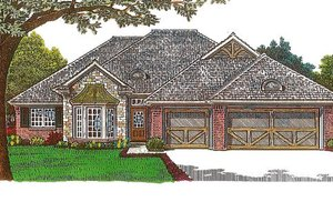 European Exterior - Front Elevation Plan #310-971