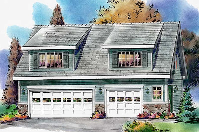 Bungalow Style House Plan - 2 Beds 1 Baths 928 Sq/Ft Plan #18-4520 Exterior - Front Elevation