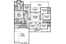 Country Floor Plan - Main Floor Plan Plan #21-379