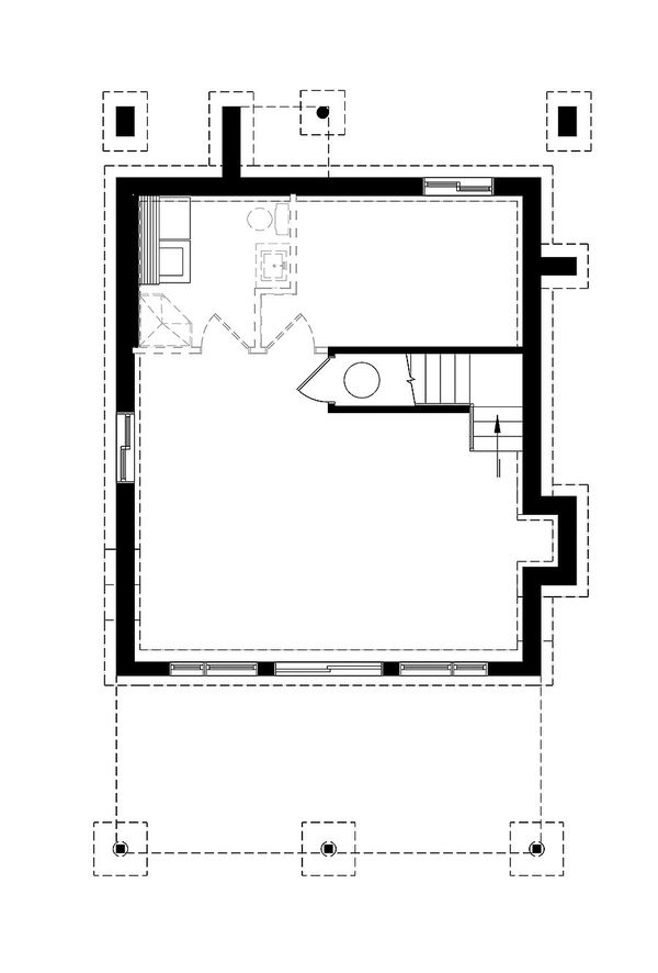 Contemporary Style House Plan - 2 Beds 1 Baths 1344 Sq/Ft Plan #23-2660 Floor Plan - Lower Floor Plan