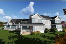 Craftsman Exterior - Rear Elevation Plan #70-1288