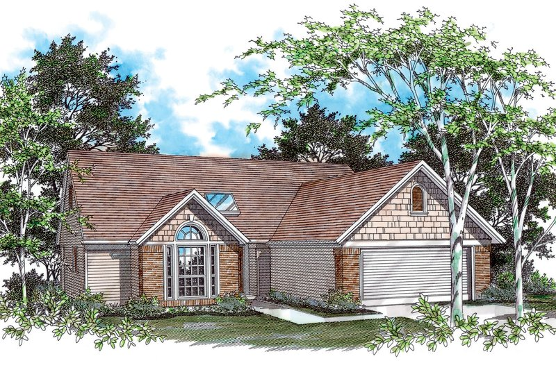 Ranch Exterior - Front Elevation Plan #48-581