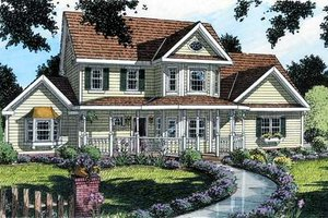 Country Exterior - Front Elevation Plan #312-573