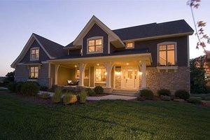 Craftsman Exterior - Front Elevation Plan #56-597