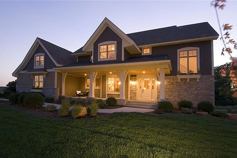 Craftsman Exterior - Front Elevation Plan #56-597 - Houseplans.com