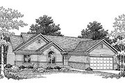 Traditional Style House Plan - 3 Beds 2 Baths 1544 Sq/Ft Plan #70-145 Exterior - Front Elevation