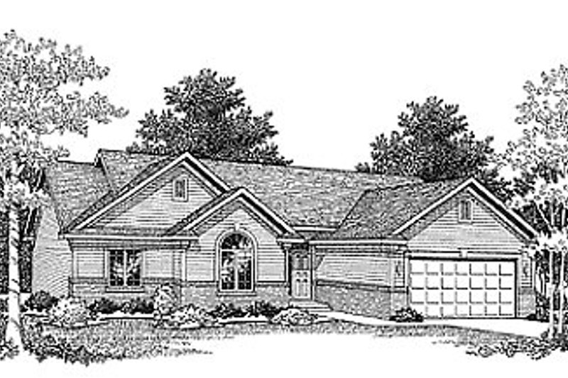 Dream House Plan - Traditional Exterior - Front Elevation Plan #70-145