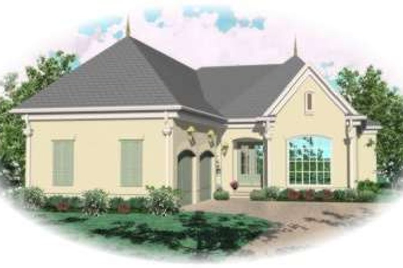 European Style House Plan - 3 Beds 3 Baths 3463 Sq/Ft Plan #81-1335 Exterior - Front Elevation
