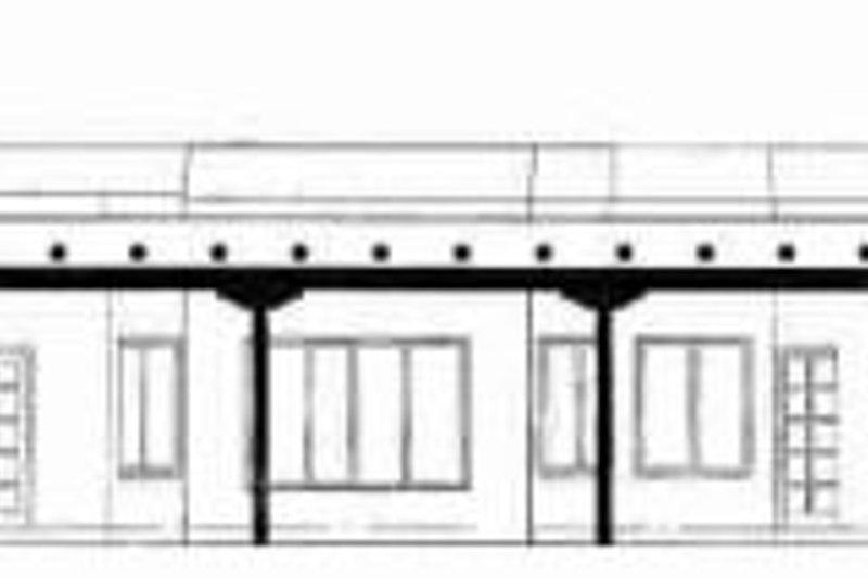 Adobe / Southwestern Exterior - Rear Elevation Plan #72-332 - Houseplans.com