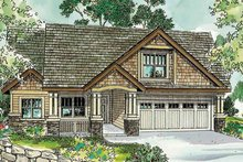 House Design - Craftsman Exterior - Front Elevation Plan #124-750