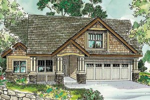 Craftsman Exterior - Front Elevation Plan #124-750