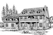 Traditional Style House Plan - 4 Beds 3.5 Baths 4552 Sq/Ft Plan #132-171 Exterior - Front Elevation