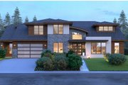 Modern Style House Plan - 4 Beds 3.5 Baths 3809 Sq/Ft Plan #1066-53 Exterior - Front Elevation