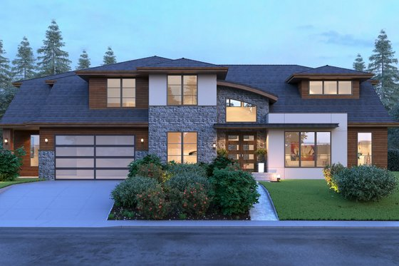 Modern Exterior - Front Elevation Plan #1066-53