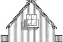 Cottage Exterior - Rear Elevation Plan #126-109