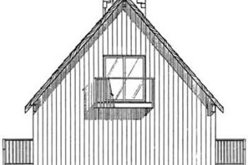 Cottage Exterior - Rear Elevation Plan #126-109 - Houseplans.com