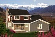 Traditional Style House Plan - 4 Beds 2.5 Baths 2447 Sq/Ft Plan #70-1200 Exterior - Rear Elevation
