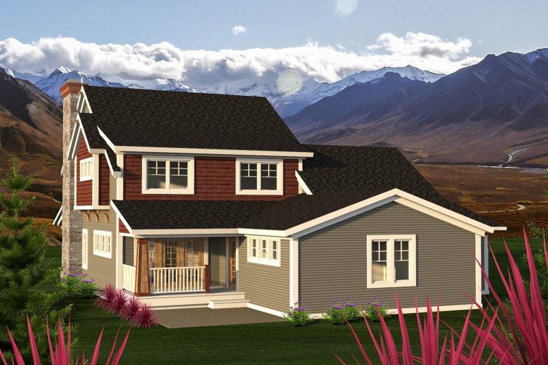 Traditional Exterior - Rear Elevation Plan #70-1200 - Houseplans.com