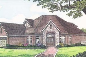 Colonial Exterior - Front Elevation Plan #310-541