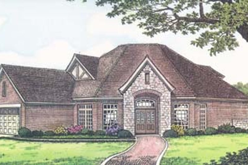 Colonial Exterior - Front Elevation Plan #310-541 - Houseplans.com
