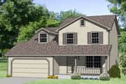 Farmhouse Style House Plan - 4 Beds 2.5 Baths 1500 Sq/Ft Plan #116-189 Exterior - Front Elevation