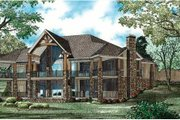 Craftsman Style House Plan - 4 Beds 4.5 Baths 5144 Sq/Ft Plan #17-2358 Exterior - Rear Elevation