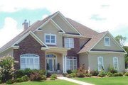 European Style House Plan - 4 Beds 4.5 Baths 3708 Sq/Ft Plan #69-170 Exterior - Front Elevation