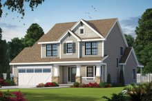 Dream House Plan - Craftsman Exterior - Front Elevation Plan #20-2420
