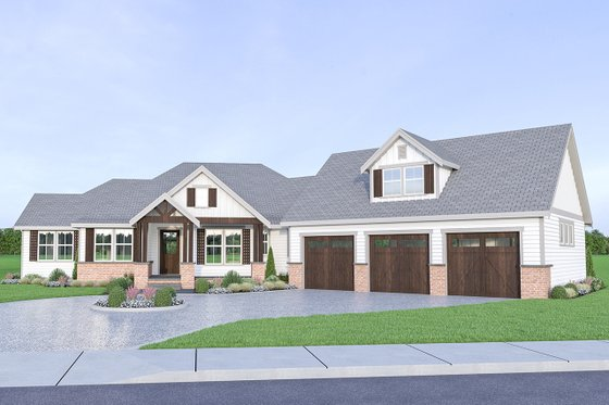 Farmhouse Exterior - Front Elevation Plan #1070-22