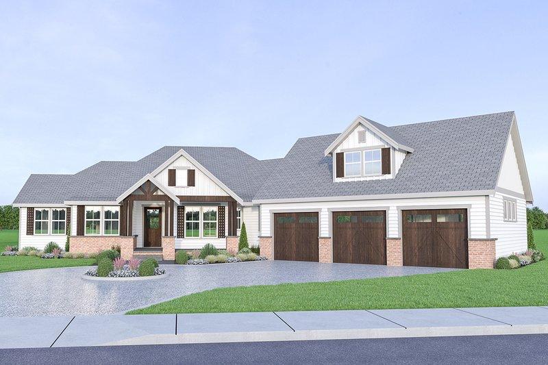 Home Plan - Farmhouse Exterior - Front Elevation Plan #1070-22