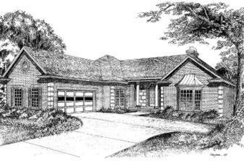 Traditional Style House Plan - 3 Beds 2 Baths 2418 Sq/Ft Plan #322-113 Exterior - Front Elevation